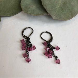 Jewelry - Pink bead earrings